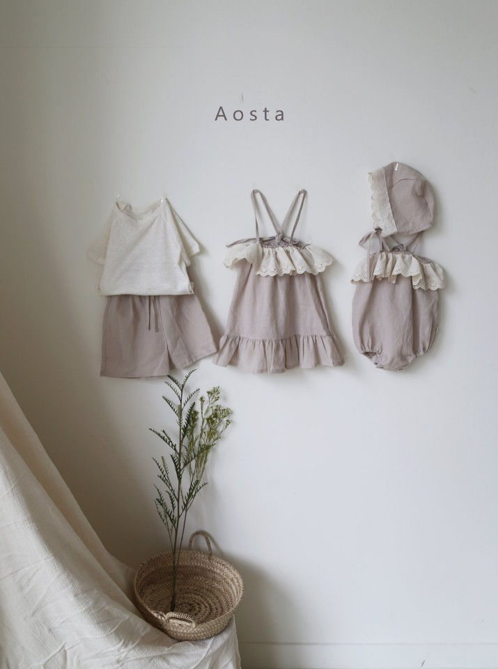 AOSTA - Korean Children Fashion - #Kfashion4kids - Linen Raglan Tee - 6