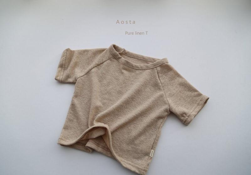 AOSTA - Korean Children Fashion - #Kfashion4kids - Linen Raglan Tee - 7