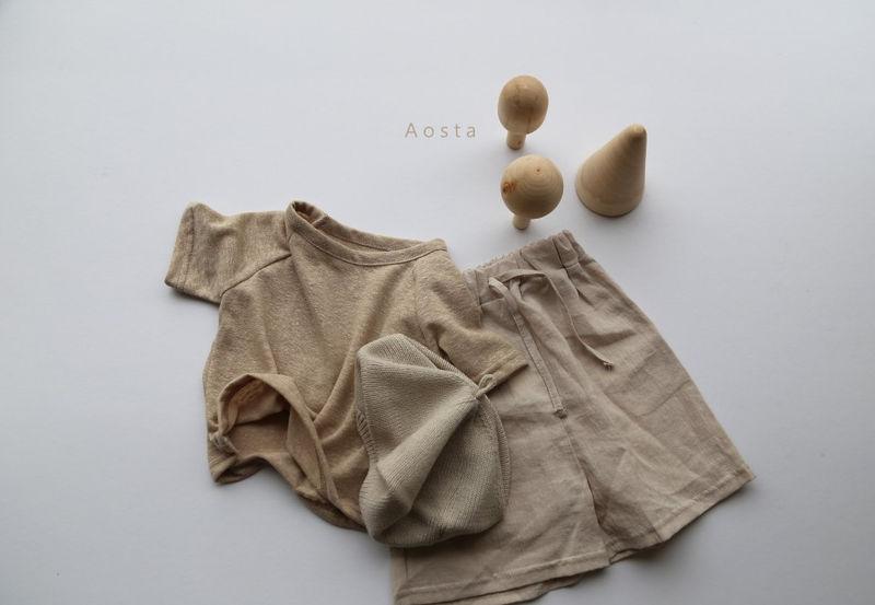 AOSTA - Korean Children Fashion - #Kfashion4kids - Linen Raglan Tee - 8