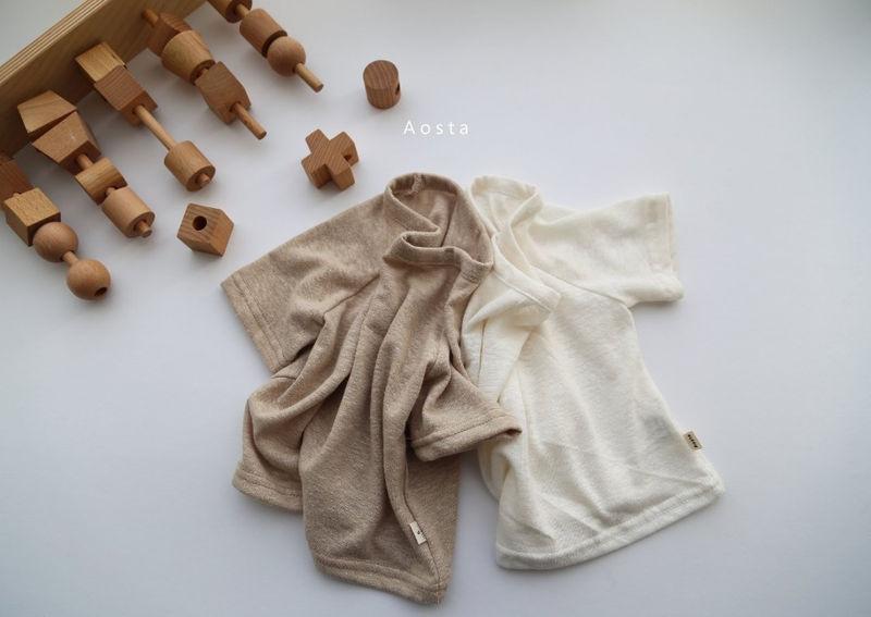 AOSTA - BRAND - Korean Children Fashion - #Kfashion4kids - Linen Raglan Tee