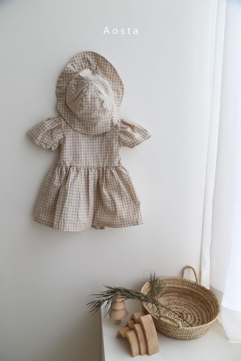 AOSTA - Korean Children Fashion - #Kfashion4kids - Linen Puff One-piece