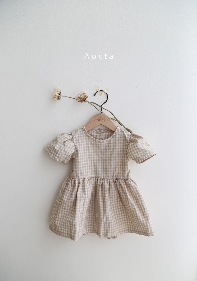 AOSTA - Korean Children Fashion - #Kfashion4kids - Linen Puff One-piece - 2