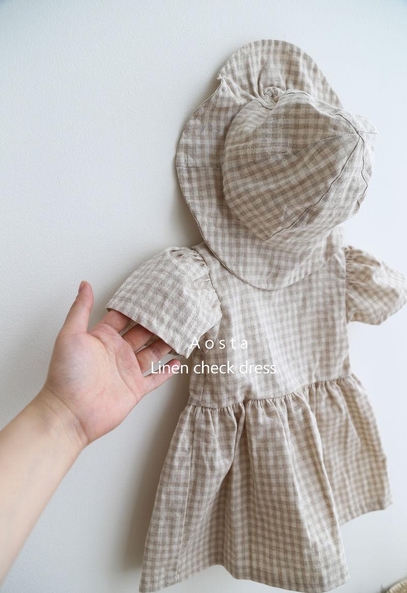 AOSTA - Korean Children Fashion - #Kfashion4kids - Linen Puff One-piece - 3