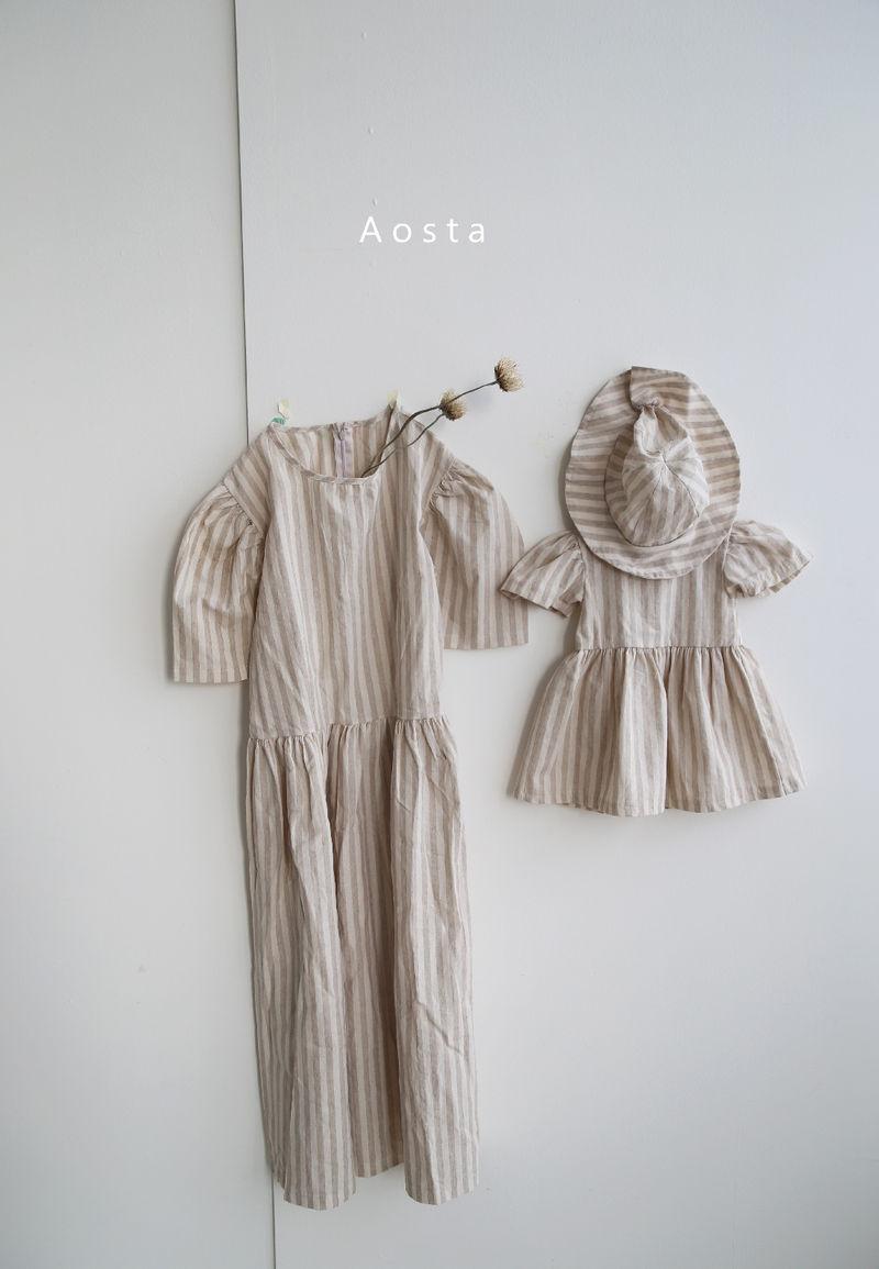 AOSTA - Korean Children Fashion - #Kfashion4kids - Linen Puff One-piece - 4