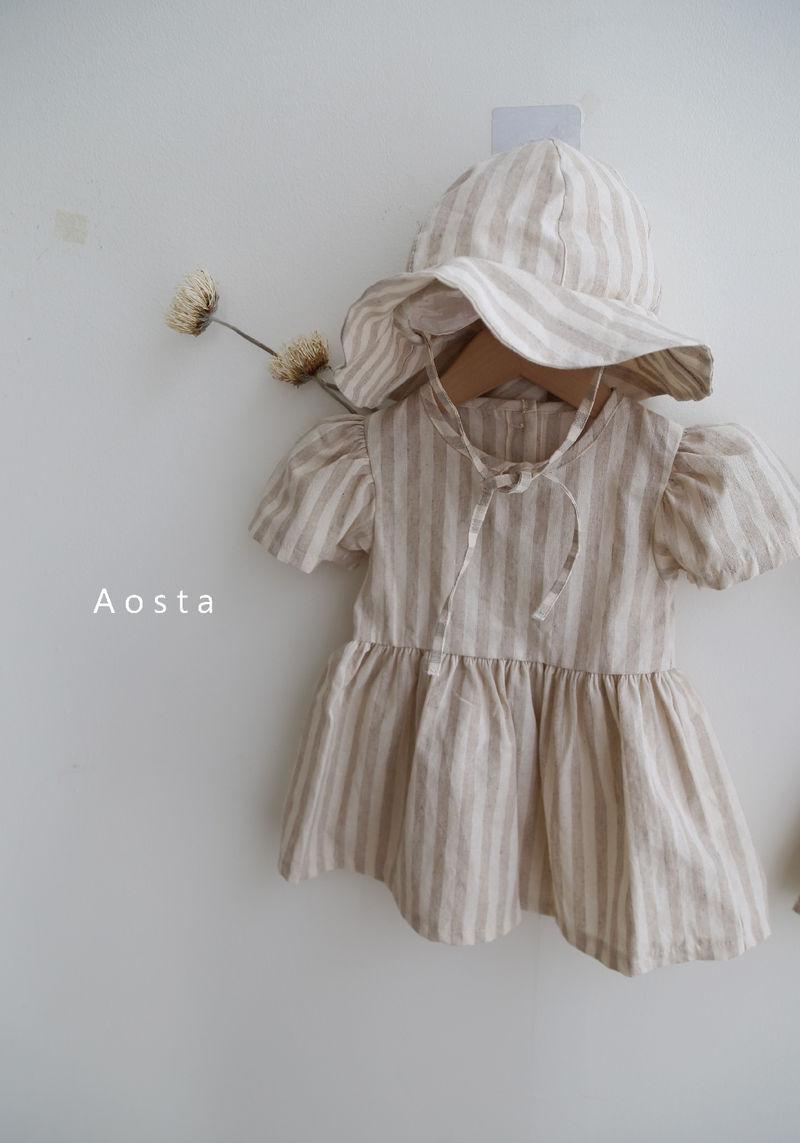 AOSTA - Korean Children Fashion - #Kfashion4kids - Linen Puff One-piece - 7