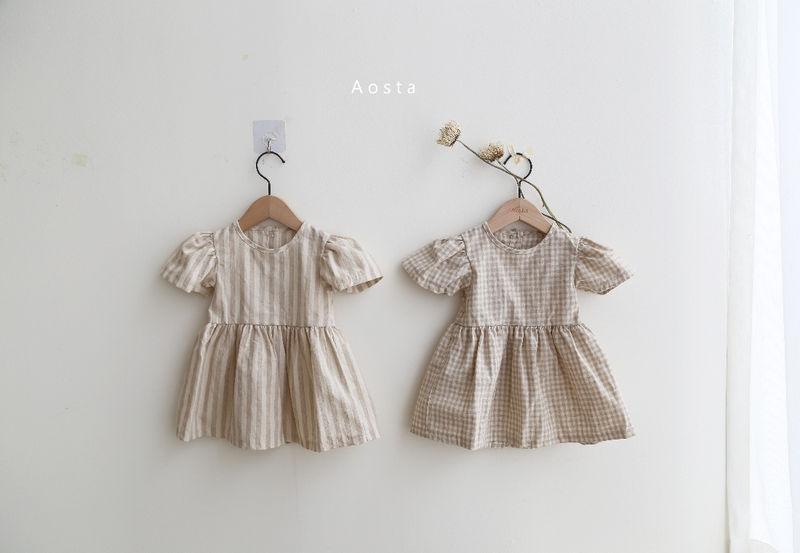AOSTA - BRAND - Korean Children Fashion - #Kfashion4kids - Linen Puff One-piece