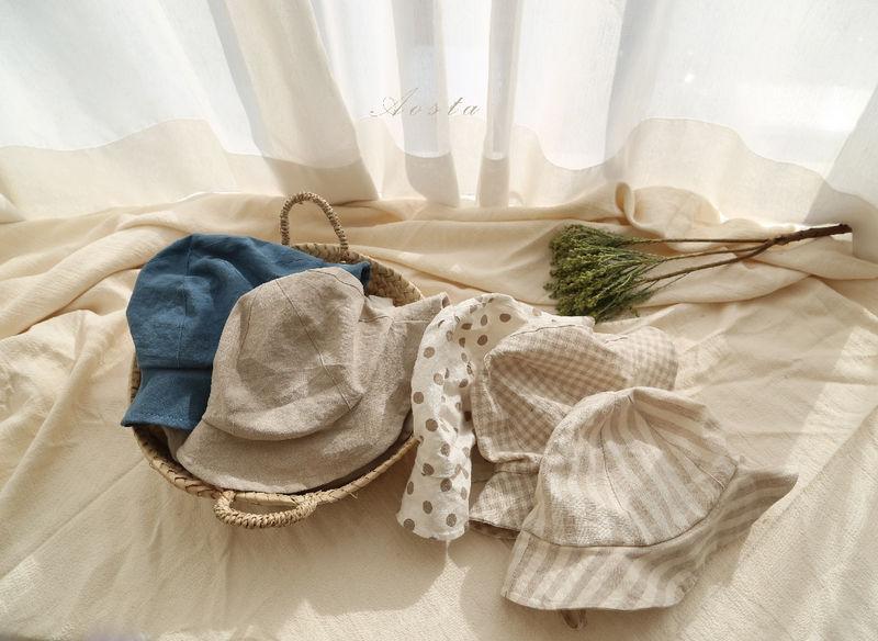 AOSTA - Korean Children Fashion - #Kfashion4kids - Linen Bucket Hat - 2