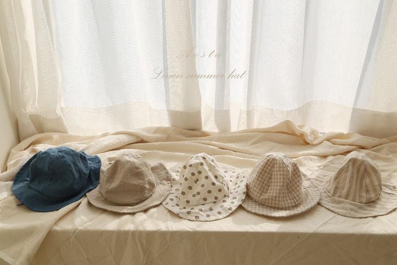 AOSTA - Korean Children Fashion - #Kfashion4kids - Linen Bucket Hat - 3