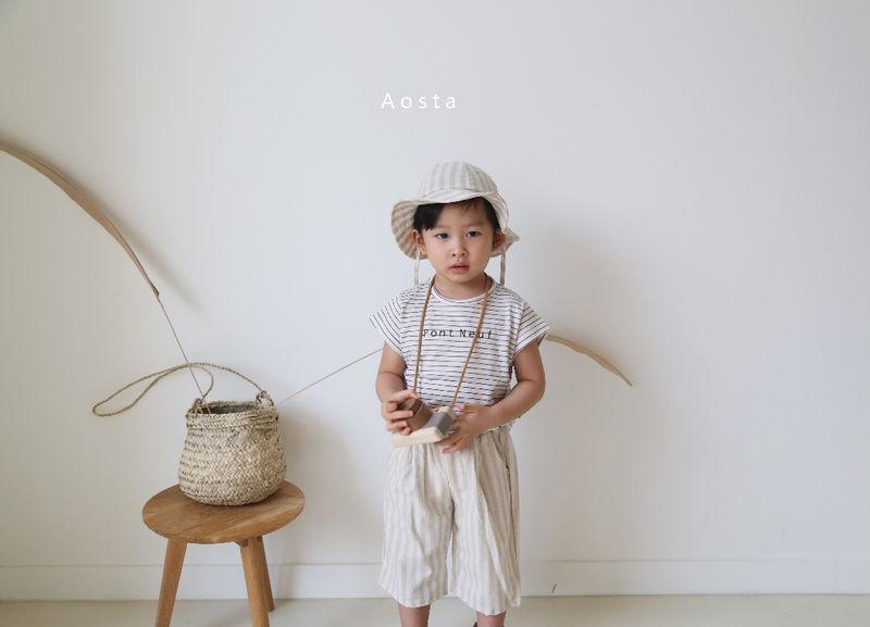 AOSTA - Korean Children Fashion - #Kfashion4kids - Linen Bucket Hat - 9