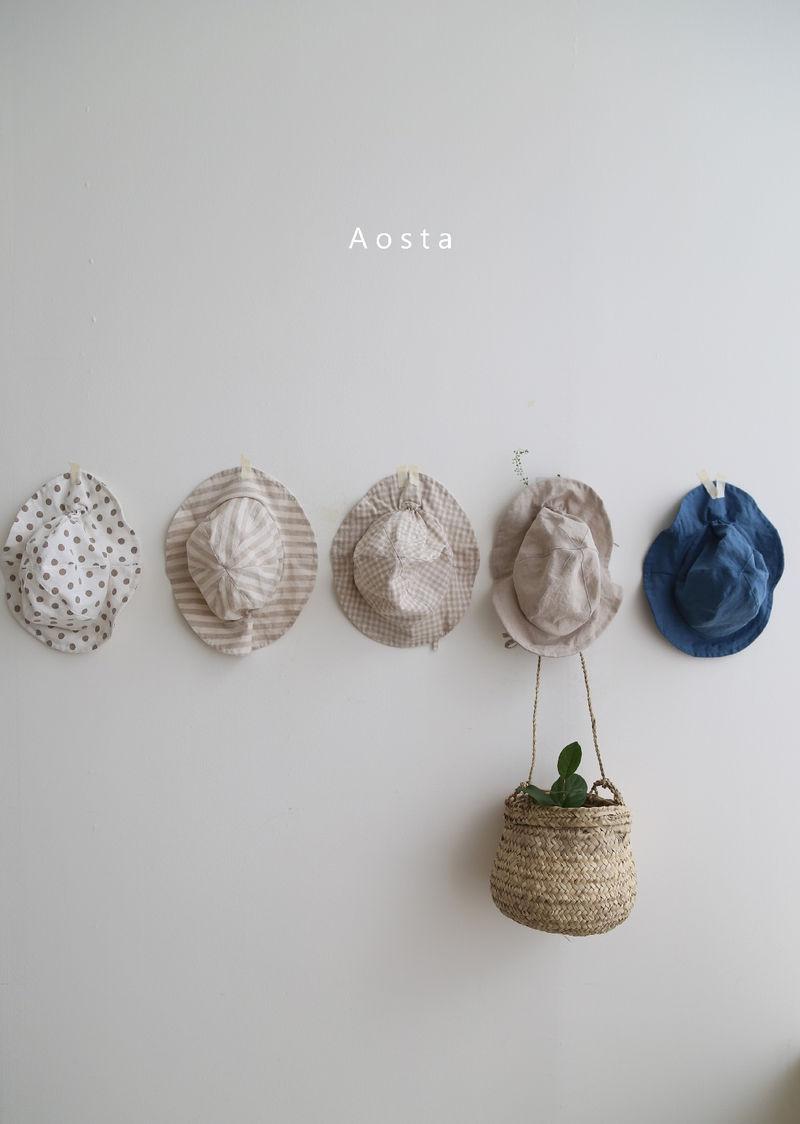 AOSTA - BRAND - Korean Children Fashion - #Kfashion4kids - Linen Bucket Hat