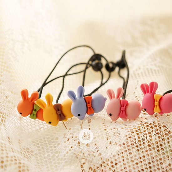 ARIM CLOSET - BRAND - Korean Children Fashion - #Kfashion4kids - Cute Bunny Hairstring [set of random 2]