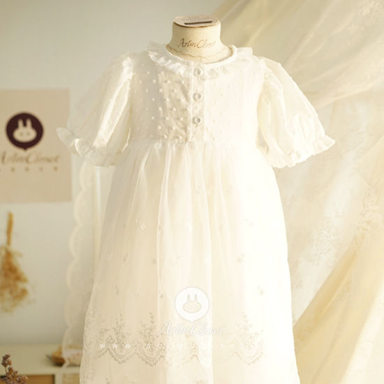 ARIM CLOSET - BRAND - Korean Children Fashion - #Kfashion4kids - Graceful Lace Pure Dress