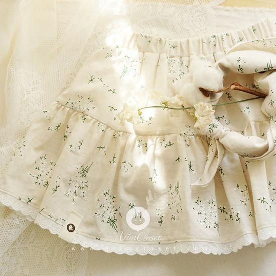 ARIM CLOSET - BRAND - Korean Children Fashion - #Kfashion4kids - Flower Blommer Skirt