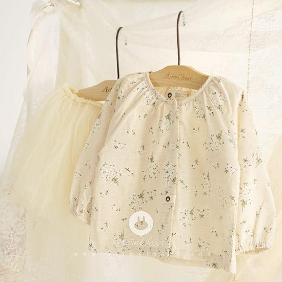ARIM CLOSET - BRAND - Korean Children Fashion - #Kfashion4kids - Flower Cotton Cardigan