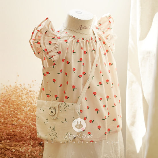 ARIM CLOSET - BRAND - Korean Children Fashion - #Kfashion4kids - Cute Apple Angel Blouse