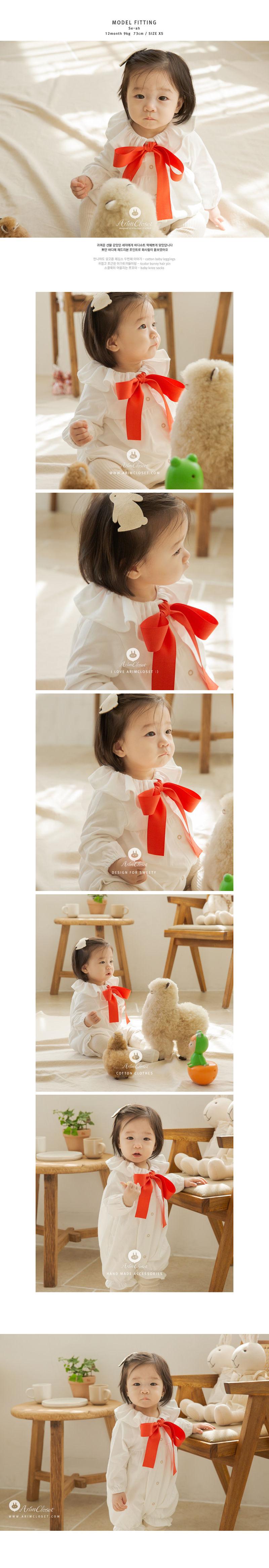 ARIM CLOSET - Korean Children Fashion - #Kfashion4kids - Big Ribbon Bodysuit - 3