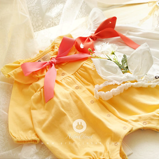 ARIM CLOSET - BRAND - Korean Children Fashion - #Kfashion4kids - Big Ribbon Bodysuit