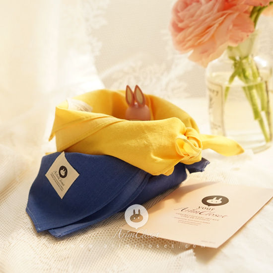 ARIM CLOSET - BRAND - Korean Children Fashion - #Kfashion4kids - Deep Blue & Yellow Petit Scarf