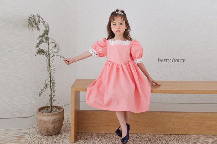 BERRY BERRY - BRAND - Korean Children Fashion - #Kfashion4kids - White Princess One-piece