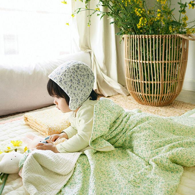 BIEN A BIEN - BRAND - Korean Children Fashion - #Kfashion4kids - Baby Floral Blanket