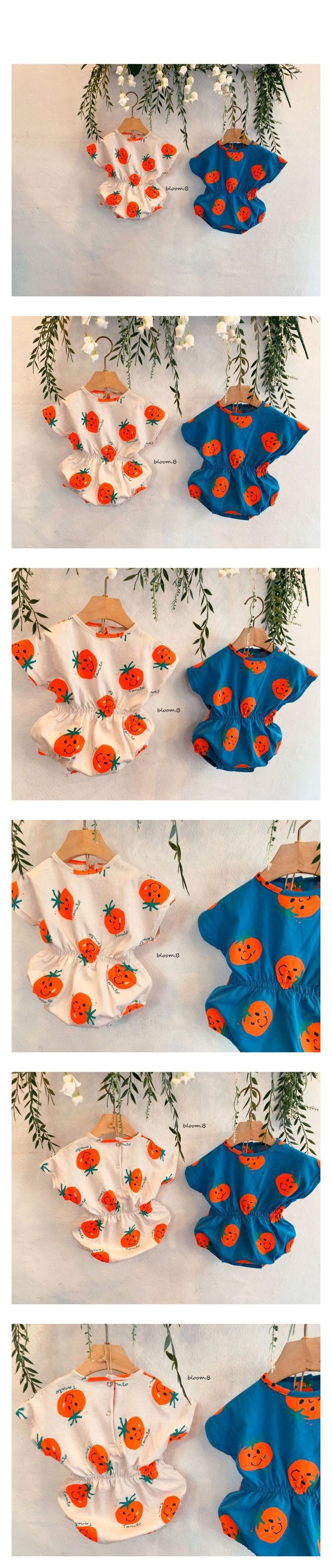 BLOOM B - Korean Children Fashion - #Kfashion4kids - Tomato Smile Bodysuit