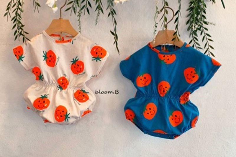 BLOOM B - BRAND - Korean Children Fashion - #Kfashion4kids - Tomato Smile Bodysuit