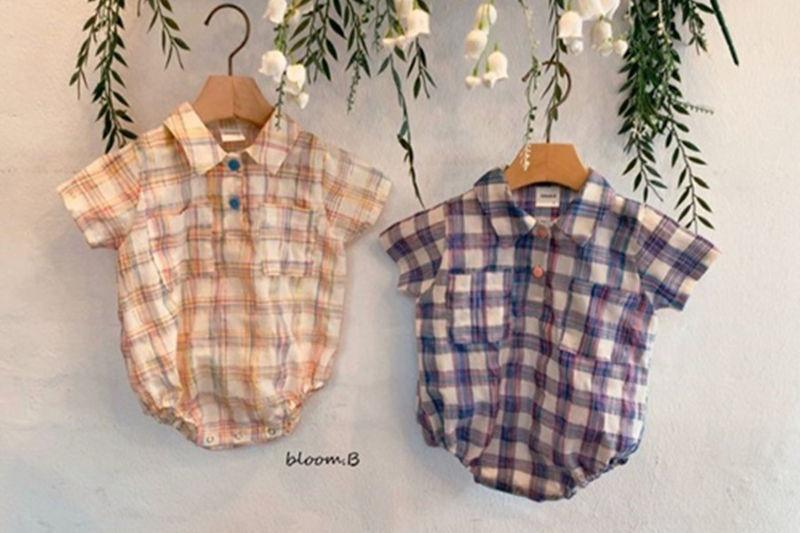 BLOOM B - BRAND - Korean Children Fashion - #Kfashion4kids - Candy Check Bodysuit