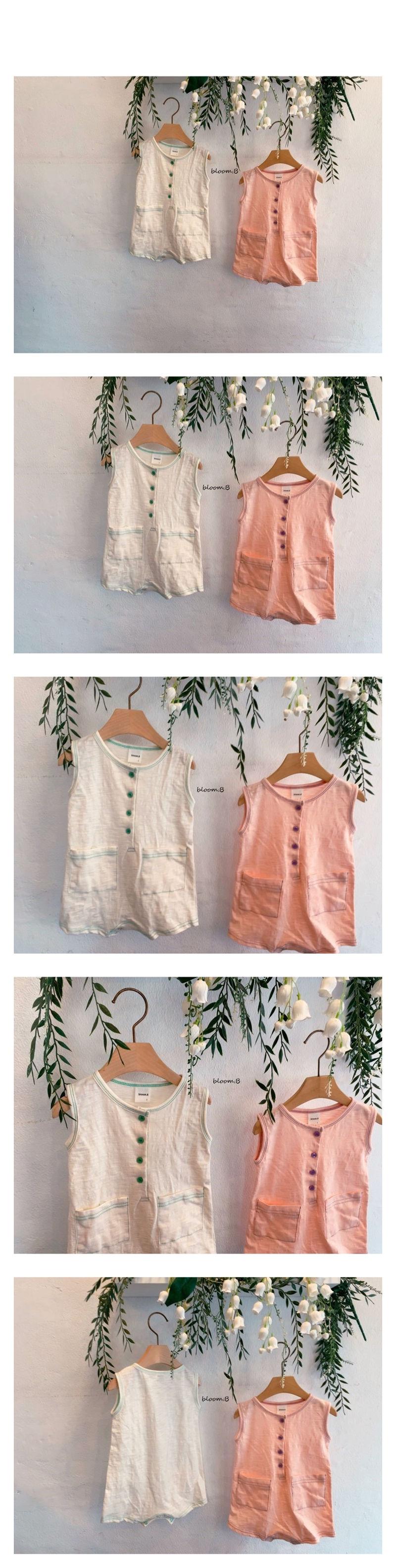 BLOOM B - Korean Children Fashion - #Kfashion4kids - Colored Pocket Bodysuit