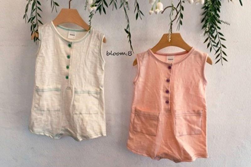 BLOOM B - BRAND - Korean Children Fashion - #Kfashion4kids - Colored Pocket Bodysuit