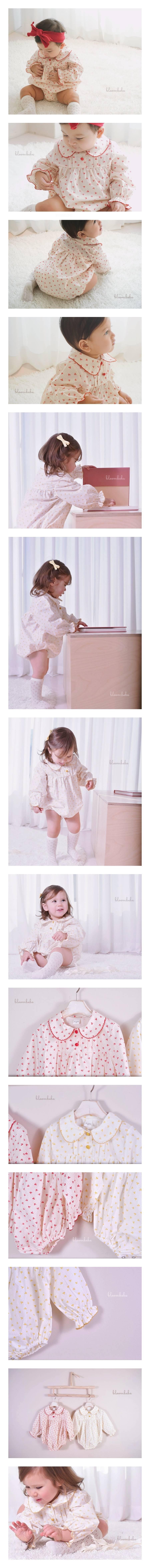 BLOOMBEBE - Korean Children Fashion - #Kfashion4kids - Baby Star Flower Bodysuit