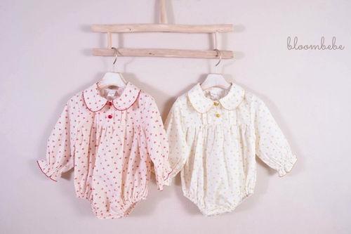 BLOOMBEBE - BRAND - Korean Children Fashion - #Kfashion4kids - Baby Star Flower Bodysuit