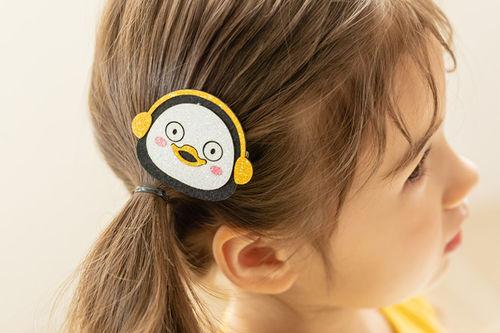 COCO RIBBON - BRAND - Korean Children Fashion - #Kfashion4kids - Penguin Hairpin