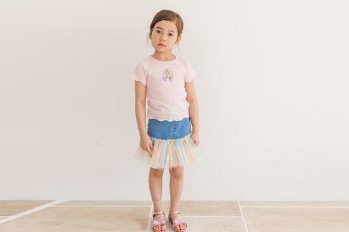 COCO RIBBON - BRAND - Korean Children Fashion - #Kfashion4kids - Denim Cha Skirt