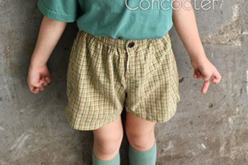 CONCOCTER - BRAND - Korean Children Fashion - #Kfashion4kids - Check Short Pants