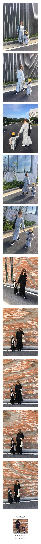 COUPLE - Korean Children Fashion - #Kfashion4kids - Pocket Cancan Top Bottom Set with Mom