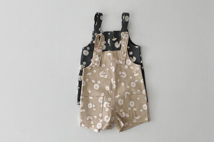 DAILY BEBE - BRAND - Korean Children Fashion - #Kfashion4kids - Daisy Suspender Pants