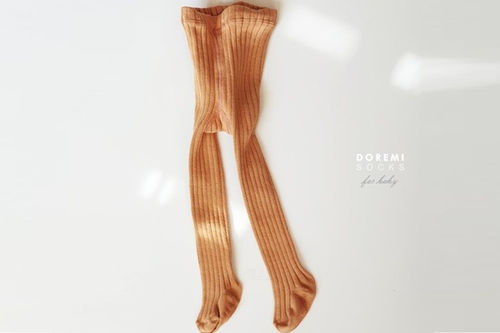 DOREMI SOCKS - BRAND - Korean Children Fashion - #Kfashion4kids - Orange Rib Tights