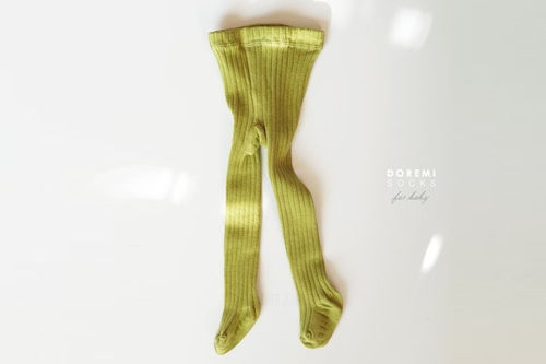 DOREMI SOCKS - BRAND - Korean Children Fashion - #Kfashion4kids - Green Bean Rib Tights
