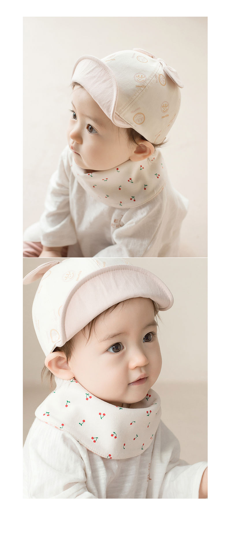 HAPPY PRINCE - Korean Children Fashion - #Kfashion4kids - Cherry Pongpong Baby Banana Bib - 2