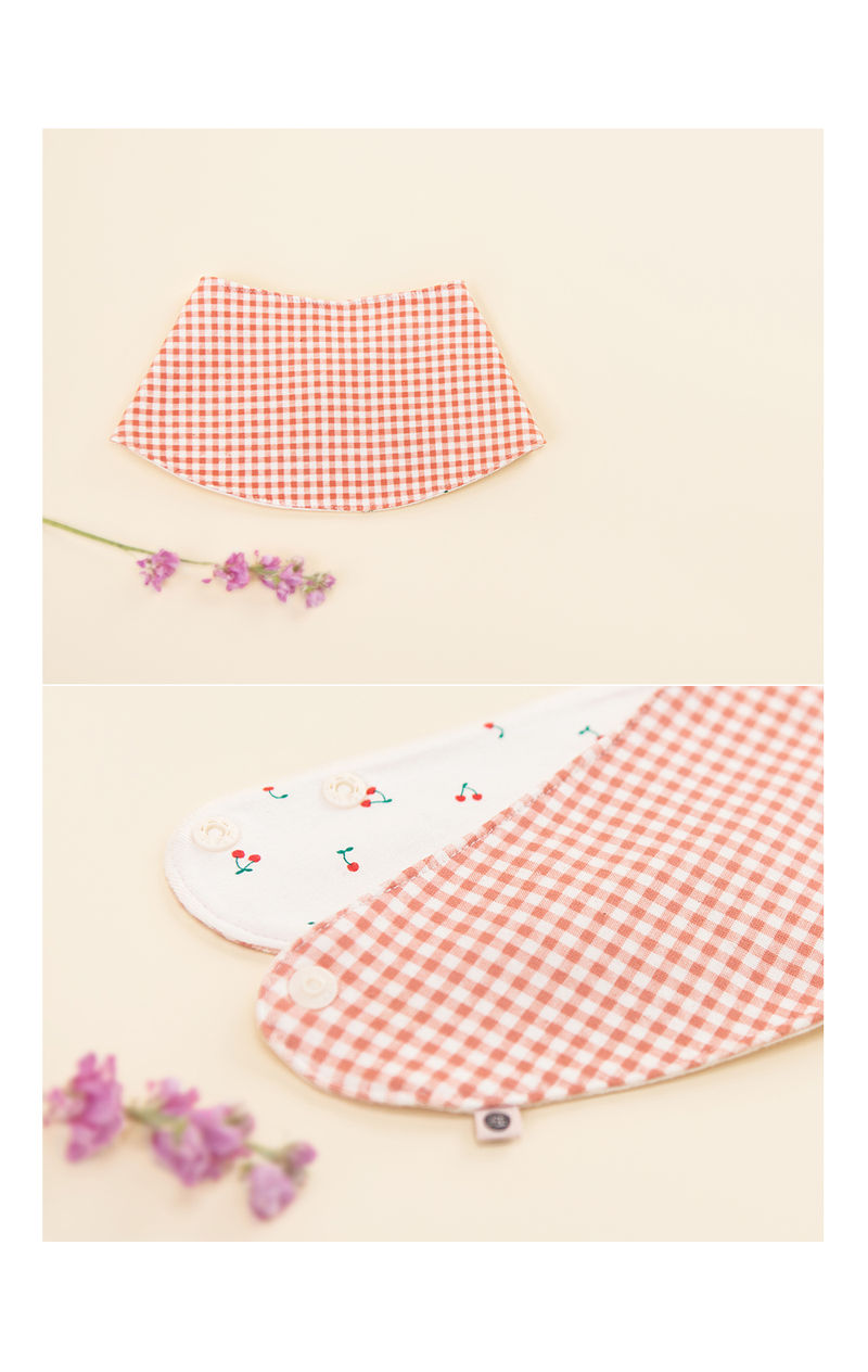HAPPY PRINCE - Korean Children Fashion - #Kfashion4kids - Cherry Pongpong Baby Banana Bib - 4