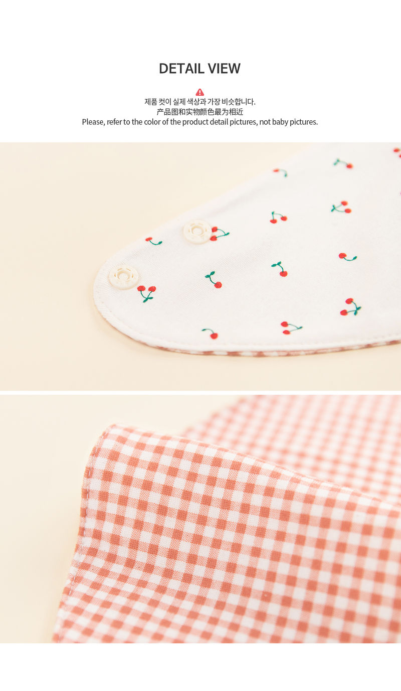 HAPPY PRINCE - Korean Children Fashion - #Kfashion4kids - Cherry Pongpong Baby Banana Bib - 7