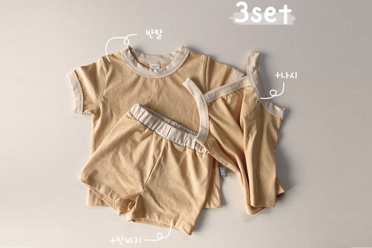 HERE I AM - BRAND - Korean Children Fashion - #Kfashion4kids - Mellow Cotton Span 3 Pieces Set