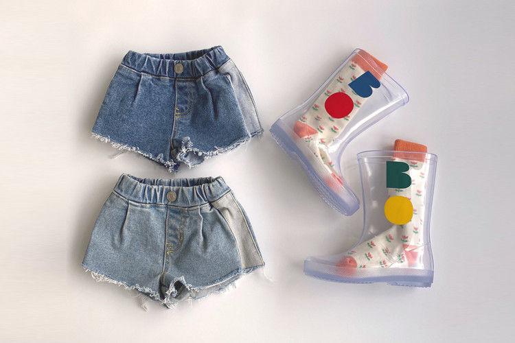 HERE I AM - BRAND - Korean Children Fashion - #Kfashion4kids - Move Denim Shorts