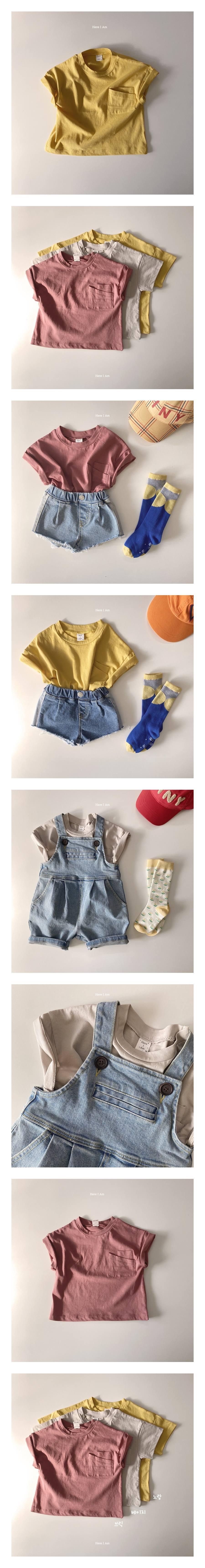 HERE I AM - Korean Children Fashion - #Kfashion4kids - Double Pocket Tee