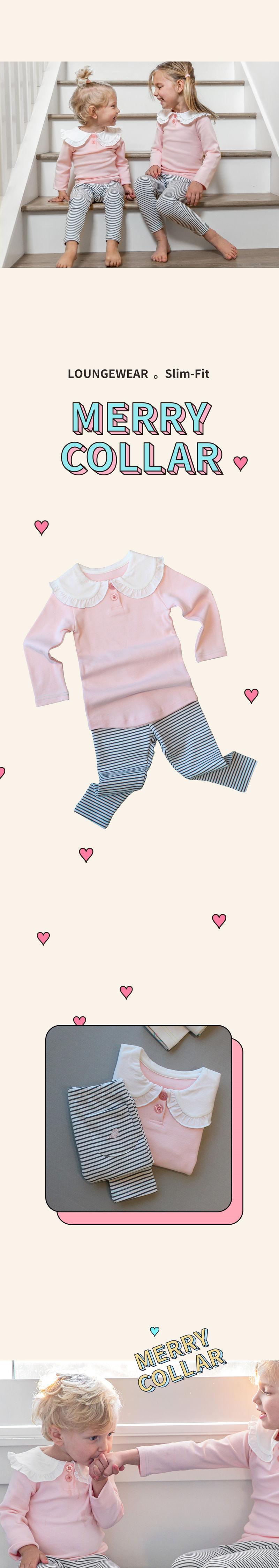 KOKACHARM - Korean Children Fashion - #Kfashion4kids - Merry Collar Loungewear