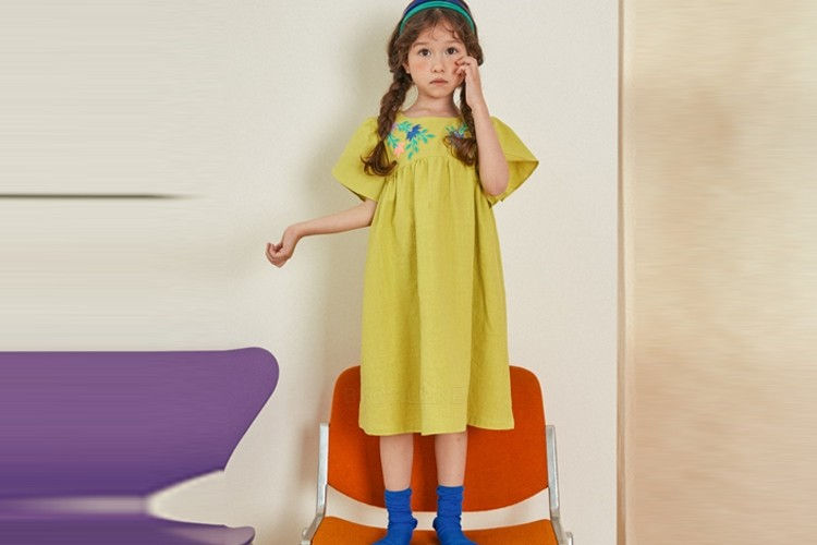 LILAS - BRAND - Korean Children Fashion - #Kfashion4kids - Maya Embroidery One-piece