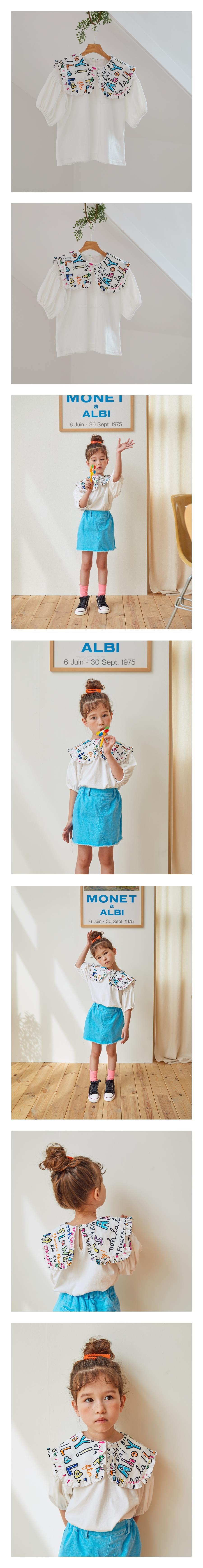 LILAS - Korean Children Fashion - #Kfashion4kids - Lala Collar Tee