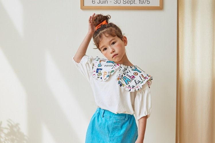 LILAS - BRAND - Korean Children Fashion - #Kfashion4kids - Lala Collar Tee
