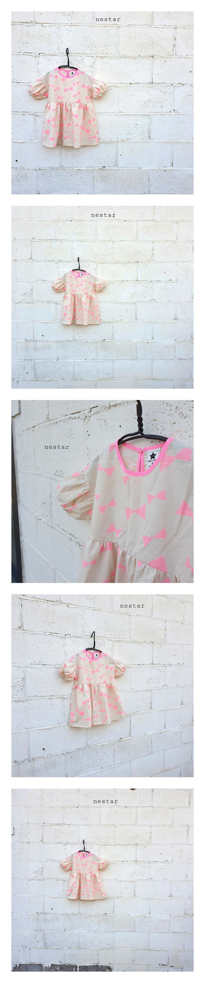 NESTAR - Korean Children Fashion - #Kfashion4kids - Ribbon One-piece