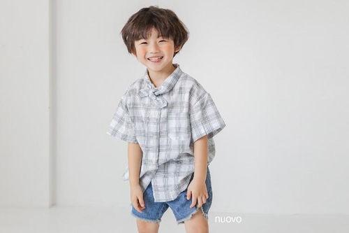NUOVO - BRAND - Korean Children Fashion - #Kfashion4kids - Check Bay Shirts